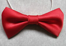 Boys Bow Tie Elasticated Bowtie UNISEX Boy Girl DICKIE RED