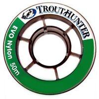 Trouthunter Bobine 50 m Fluorocarbone Tippet en taille 5.5X 4.4 LB environ 2.00 kg force de traction