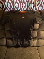 Mens Under Armour Short Sleeve Compression Shirt Black Medium Heat Gear