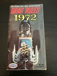 VINTAGE 1972 NHRA DRAG RULES BOOKLET