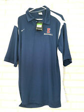 Nike Baseball Blue Short Sleeve Shirt Xl White Stripe Sports