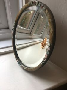"VICTORIAN  Oval DRESSING TABLE MIRROR 9.5""/24cm"