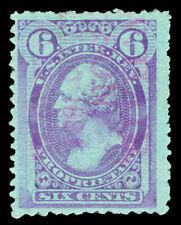 Scott RB18b 1875 6c Violet Proprietary Revenue on Wmkd Paper Used F-VF Cat $35