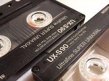 Lot of 2 SONY UX-S90 Type II Cro2 High Bias Ultrafine Super Uniaxial Cassette