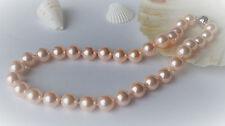 Design Muschelkernperlen Statement Halskette Kette Collier Rose 12mm