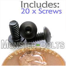 "#4-40 x 1/4"" - Qty 20 - BUTTON HEAD Socket Cap Screws  Alloy Steel Black Oxide"