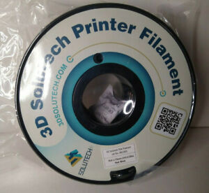 3D Solutech Printer Filament Real Black PLA 1.75 MM 1 KG (2.2lbs) No Box