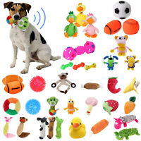 Pet Dog Cat Puppy Chew Toy Squeaker Squeaky Sound Soft Plush Play Training Toys