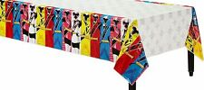 "POWER RANGERS Party Supplies NINJA STEEL TABLE COVER 54 X 96"" PLASTIC"
