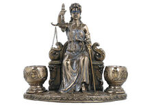 Lady Justice or Goddess of Justice Themis Candle Holder Bronze Finish #WU74765A4