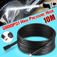 10m High Pressure Washer Hose M22 x M14 Screw Thread Jet Wash 5800PSI steel