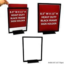 Countertop Flat Base Sign Holder, Low Profile Heavy Duty Metal Tabletop Black Ca