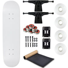 "Moose Complete Skateboard Dip White 7.5"" With Black Trucks and White Wheels"