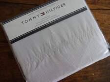 TOMMY HILFIGER Light GRAY White STRIPE TWIN SHEET SET 3PC