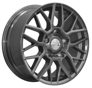 """18"""" 1AV ZX11T Alloy Wheels Gloss Grey 5x160 to fit Ford Transit *LOAD RATED*"""