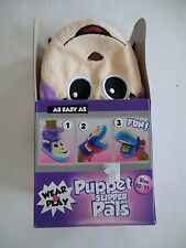 Puppet Slipper Pals monkey 12 13 toddler girls new pink purple slippers