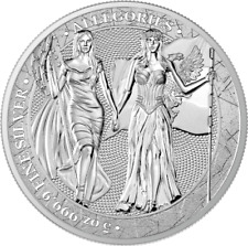"Germania 2019 25 Mark The Allegories ""Germania & Columbia"" 5 Oz Silver Coin"