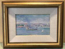 Robert Campbell Fort Denison NSW Framed Oil Painting