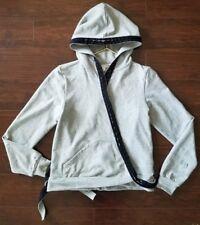 Y-3 ADIDAS Yohji Yamamoto Wrap-Around Jacket Hoodie Athletic Gray women's sz Med
