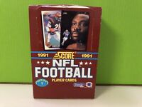 1991 Score Football Card Wax Pack Box Series 1