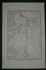1916 WWI WW1 PRINT ~ AUSTRO-GERMAN WINTER LINE ON EASTERN FRONT MAP