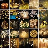 Warm White Christmas Wedding Xmas Party Decor Outdoor Fairy String Light Lamp
