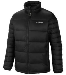 Columbia Men's Frost Fighter Insulated Puffer Winter Jacket Size L BLACK 6577 ''