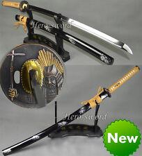 JAPANESE SAMURAI SWORD KATANA BATTLE READY WARRIOR TSUBA 1060 STEEL RAZOR SHARP