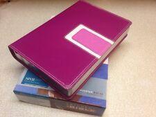 NEW! 1984 NIV Student Bible Italian Duo-Tone Pink/Razzleberry Teen/ladies/girls