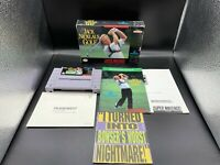 Super Nintendo SNES Jack Nicklaus Golf Complete In Box CIB