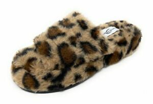 Womens Slippers Open Toe Faux Fur Warm Fuzzy Three Band Slide Slippers Sandals