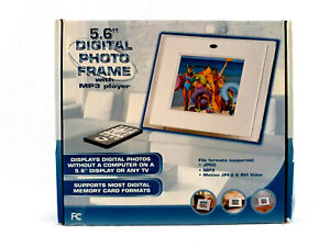 """Atico Digital LCD 5.6"""" Photo Frame With MP3 Player And Remote"""