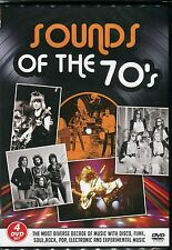 SOUNDS OF THE 70s Four DVD Set - STATUS QUO T.REX 10CC DAVID CASSIDY &MORE 1970s