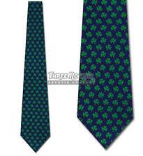 St. Patricks Day Ties Four Leaf clover Neckties Shamrock lucky Mens Neck Tie