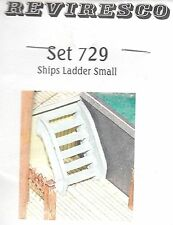 Leiter mit Geländer (2 Stück) 6 Tritte 28 mm lang 6 Zinnbauteile Schiffszubehör