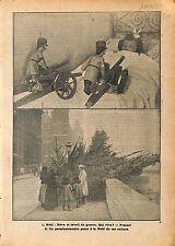 Soldats Sapin de Noël Quai aux Fleurs Paris Soldat de Plombs 1912 ILLUSTRATION