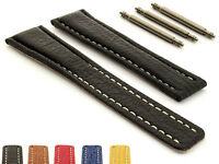 Genuine Shark Skin Leather Watch Strap Band for Breit. 22/18 or 20/18 MM