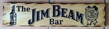 The Jim Beam Bar Rustic Pine Timber Sign