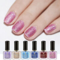 BORN PRETTY Sandy Sugar Nail Polish Gradient Shining Glitter Nail Art Varnish