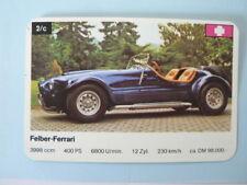 68-SUPERCARS,SUPER AUTO'S 2C FELBER FERRARI  QUARTETT CARD,SPIELKARTE