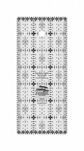 Creative Grids Itty-Bitty Eights Rectangle Ruler 3in x 7in Quilt Ruler # CGRPRG1
