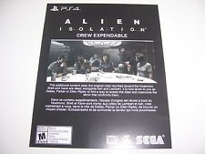 Alien Isolation PS4 DLC CODE ONLY - Crew Expandable Pack - No Game Included