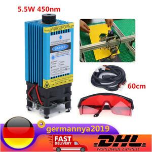 450nm 5.5W Forced Air Cooled Laser Gravur & Schneiden TTL Modul Blau Laser Modul