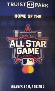 MLB 2021 ATLANTA BRAVES POCKET SCHEDULE (Kroger)