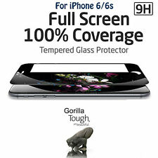 Full Screen 3D Curved Tempered Glass Screen Protector Black for iPhone 6 6S