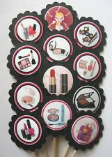 Makeup Artist/Cosmetologist Cupcake Toppers/Party Picks   Item #1397