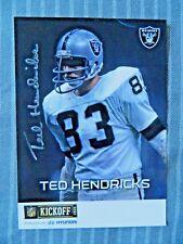 Ted Hendricks Signed Oakland Raiders Photo