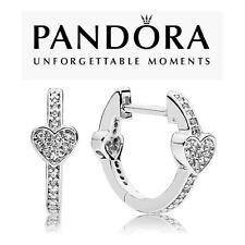 Genuine Pandora Alluring Hearts Hoops Earrings