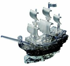 Original 3D Crystal Puzzle - Deluxe Pirate Ship Black