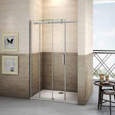 Porte de douche coulissante 120x195cm, paroi de douche 8mm verre anticalcaire